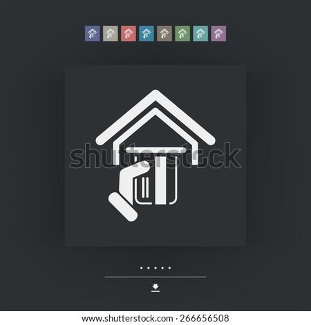 Pos concept icon - stock vector