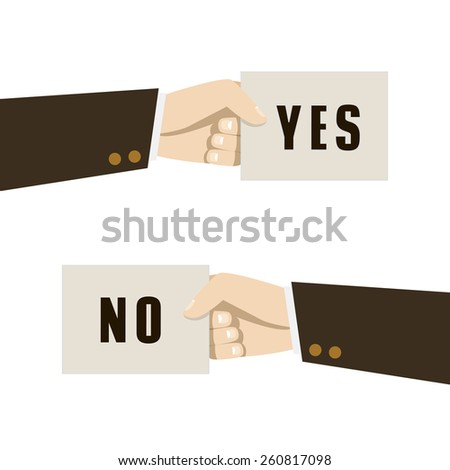 positive and negative feedback concept. Vector illustration - stock vector