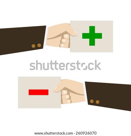 positive and negative feedback concept. Vector illustration - stock vector