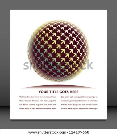 Positive digital arrow globe vector. - stock vector