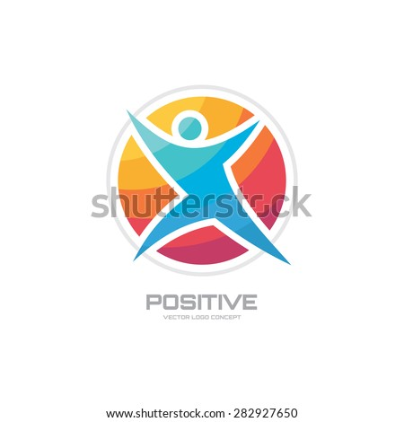 Positive Human Character Vector Logo Template Stock Vector 282927650