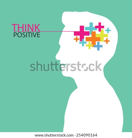Positive thinking - stock vector