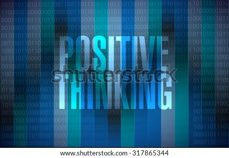 positive thinking binary sign concept illustration design graphic