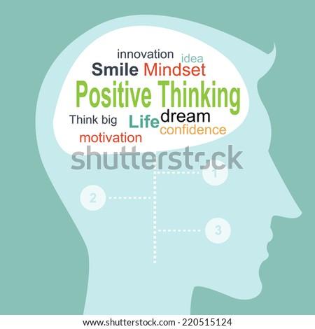 Positive thinking info  - stock vector