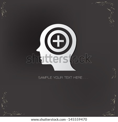 Positive thinking  symbol,vector - stock vector