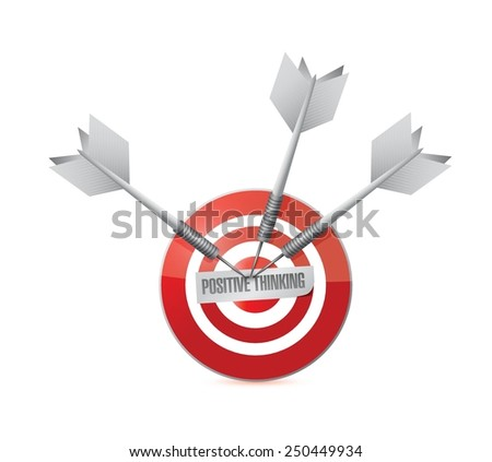 positive thinking target illustration design over a white background - stock vector