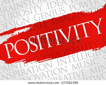 Positivity word cloud, business concept - stock vector