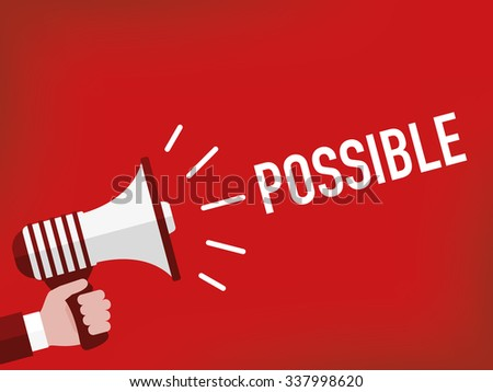 Possible - stock vector