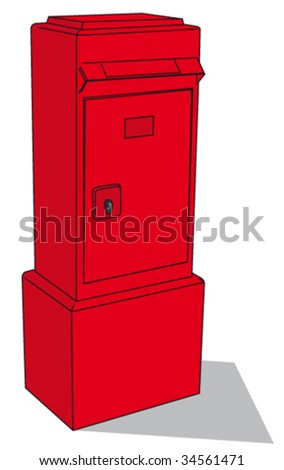 Post box - stock vector