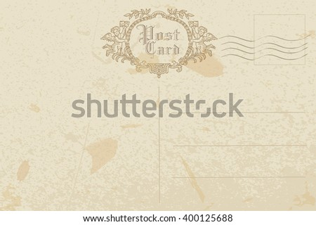 post card - stock vector
