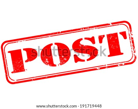 post grunge stamp with on vector illustration - stock vector