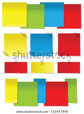 Post it - stock vector