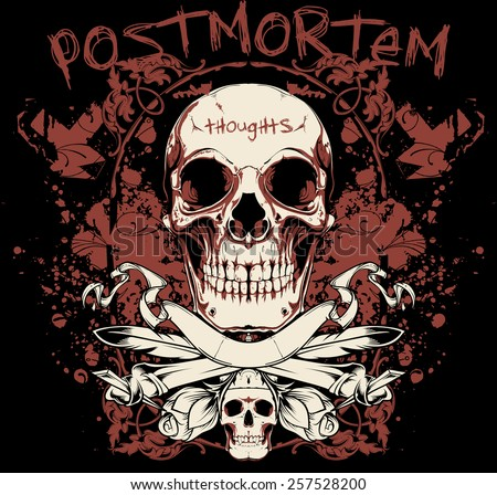 Post mortem thoughts - stock vector