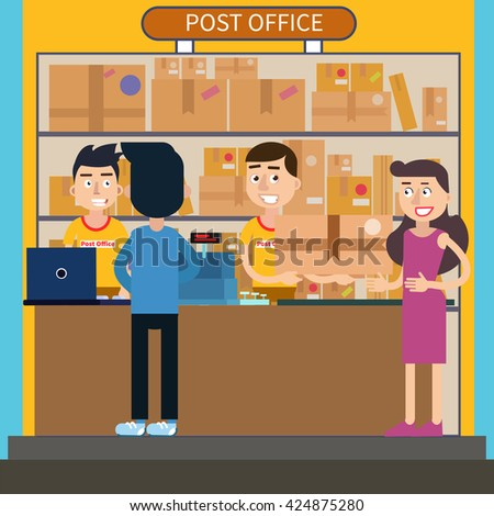 how to get parcel delivered to post office