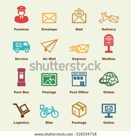 post service elements, vector infographic icons - stock vector