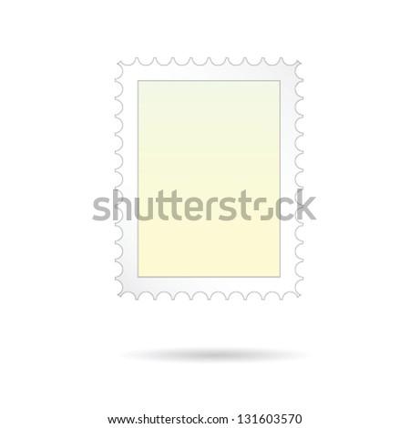 post stamp vector on white background art illustration - stock vector
