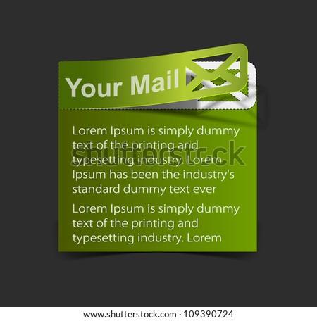 Postage high tech website - elegant design for business email presentations. - stock vector