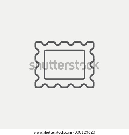 Postage stamp icon - stock vector