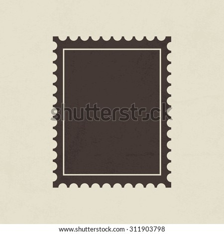 Postage stamp icon - Vector - stock vector