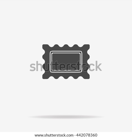 Postage stamp icon. Vector concept illustration for design. - stock vector