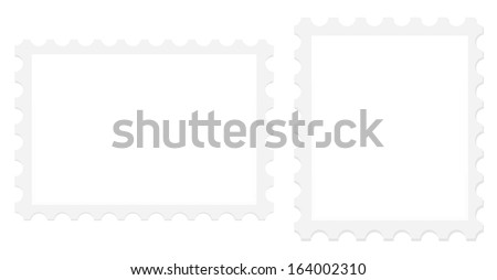 Postage Stamps Isolated - stock vector