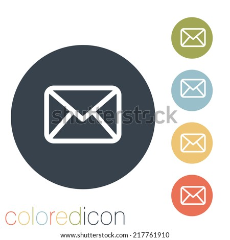 postal envelope sign. - stock vector