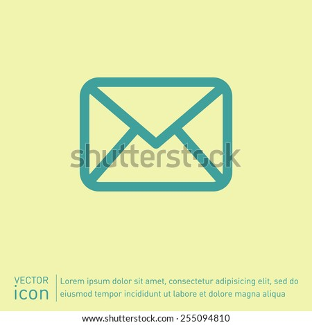 postal envelope sign. e-mail symbol . icon envelope. - stock vector