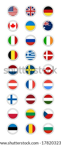Postal Flag Stamp Round - stock vector