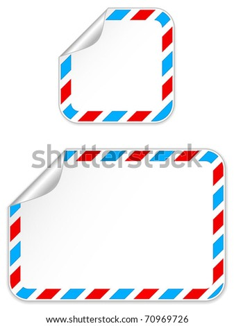 Postal sticker - stock vector