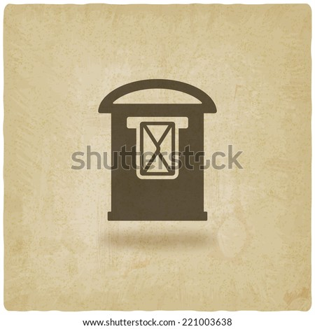 postbox with letter old background - vector illustration. eps 10 - stock vector