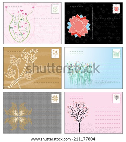 Postcard - stock vector