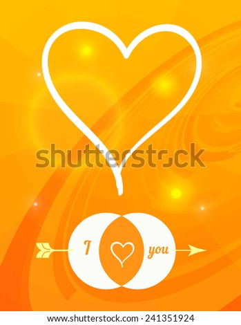 Postcard for Happy Valentine's day with glass hearts and bokeh lights. Vector illustration.