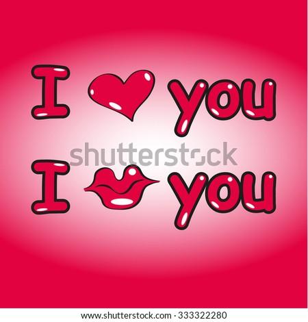 Postcard for Valentine's Day. Vector illustration - stock vector