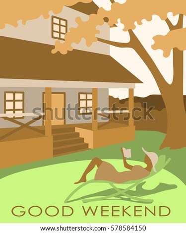 Postcard good weekend series greeting cards stock vector 578584150 postcard good weekend from a series of greeting cards m4hsunfo