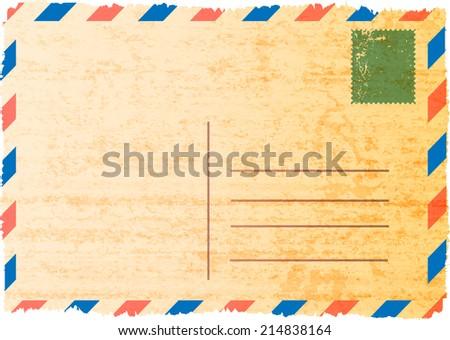 Postcard. Vector illustration.  - stock vector
