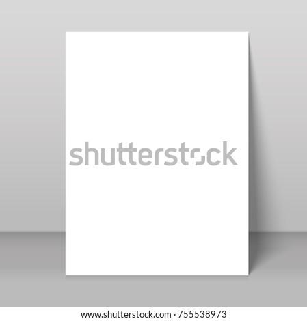 Poster Blank Bi Fold Brochure Mockup Stock Vector - Brochure blank template