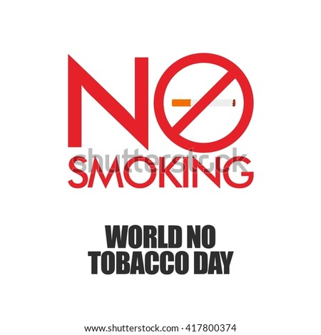 Poster, brochure, flyer or banner design for World No Tobacco Day vector, May 31st - stock vector