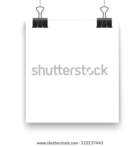 Poster clothespins on a white sheet for your design