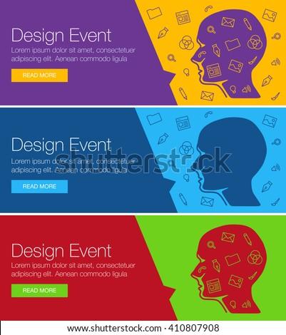 Poster Design For Event, Online Course, Training, Workshop. Banner Design  Of Ideas