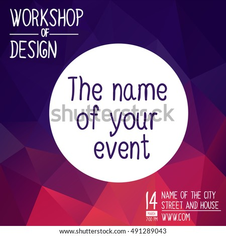Poster Design Event Online Course Training Stock Vector 491289043 ...