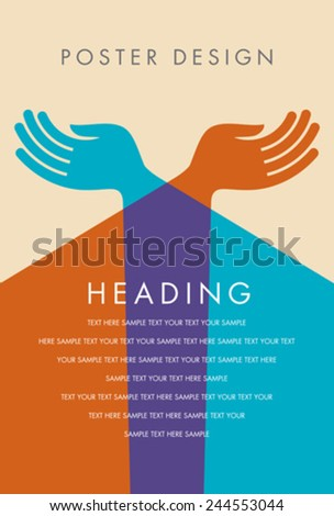 poster design of youth - stock vector