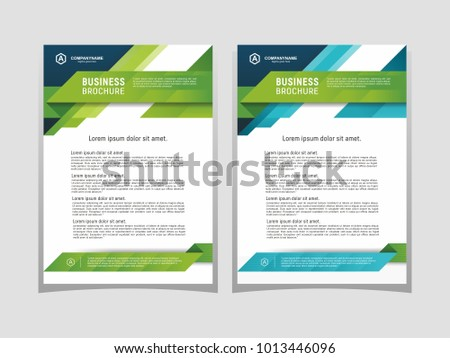 Poster Flyer Pamphlet Brochure Cover Design Stock Photo Photo