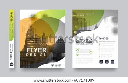 Poster Flyer Pamphlet Brochure Cover Design Layout Space For Photo  Background, Vector Template  Pamphlet Layout