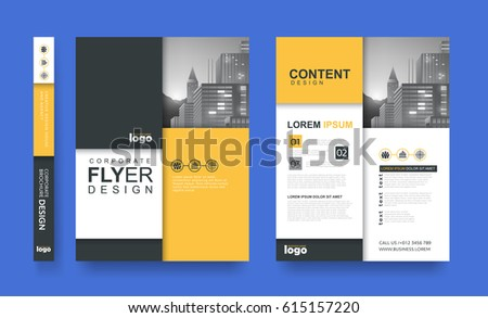 Poster Flyer Pamphlet Brochure Cover Design Layout Space For Photo  Background, Vector Template In A4  Pamphlet Layout