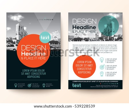 Poster Flyer Pamphlet Brochure Cover Design Layout With Circle Shape Graphic Elements And Space For Photo