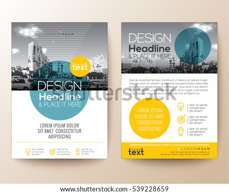 Poster Flyer Pamphlet Brochure Cover Design Stock Vector 539228659 ...