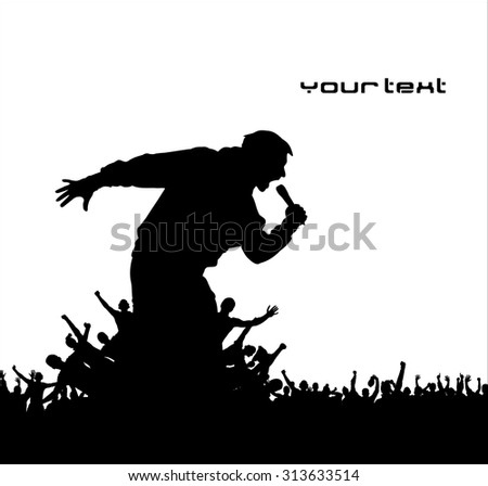 Poster for concerts - stock vector