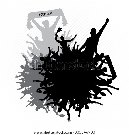 Poster for concerts and sports championships - stock vector