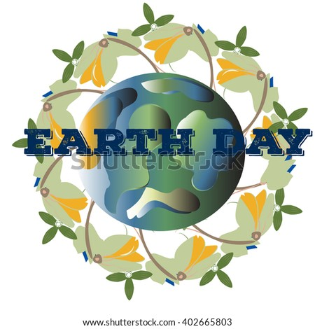 poster for Earth Day.vector illustration