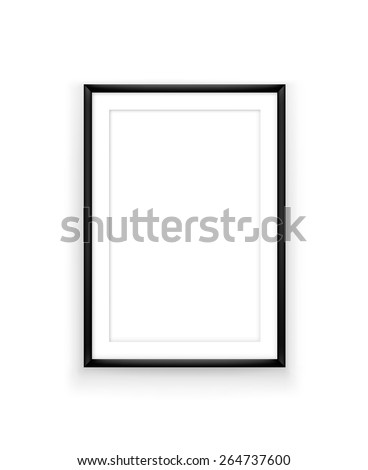 Poster frame design template for exhibition or advertising. Picture frame mock up on white background - stock vector